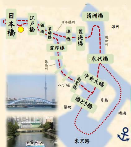 日本橋クルーズのコース画像