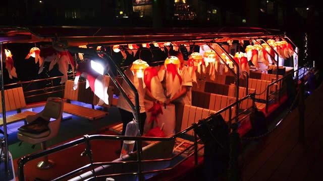ECO EDO 日本橋 納涼金魚ちょうちん船の画像
